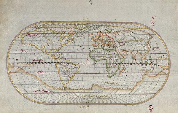 The first Piri Reis map, 1315. Wikimedia Commons