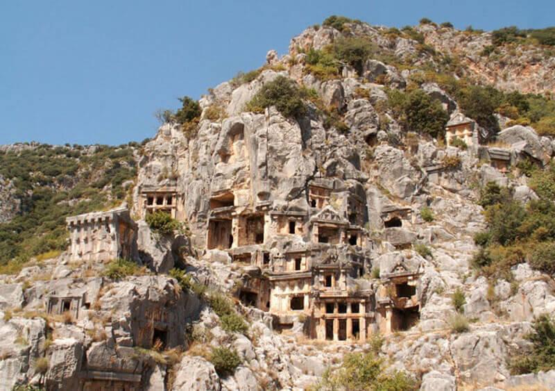 rock-cut tombs