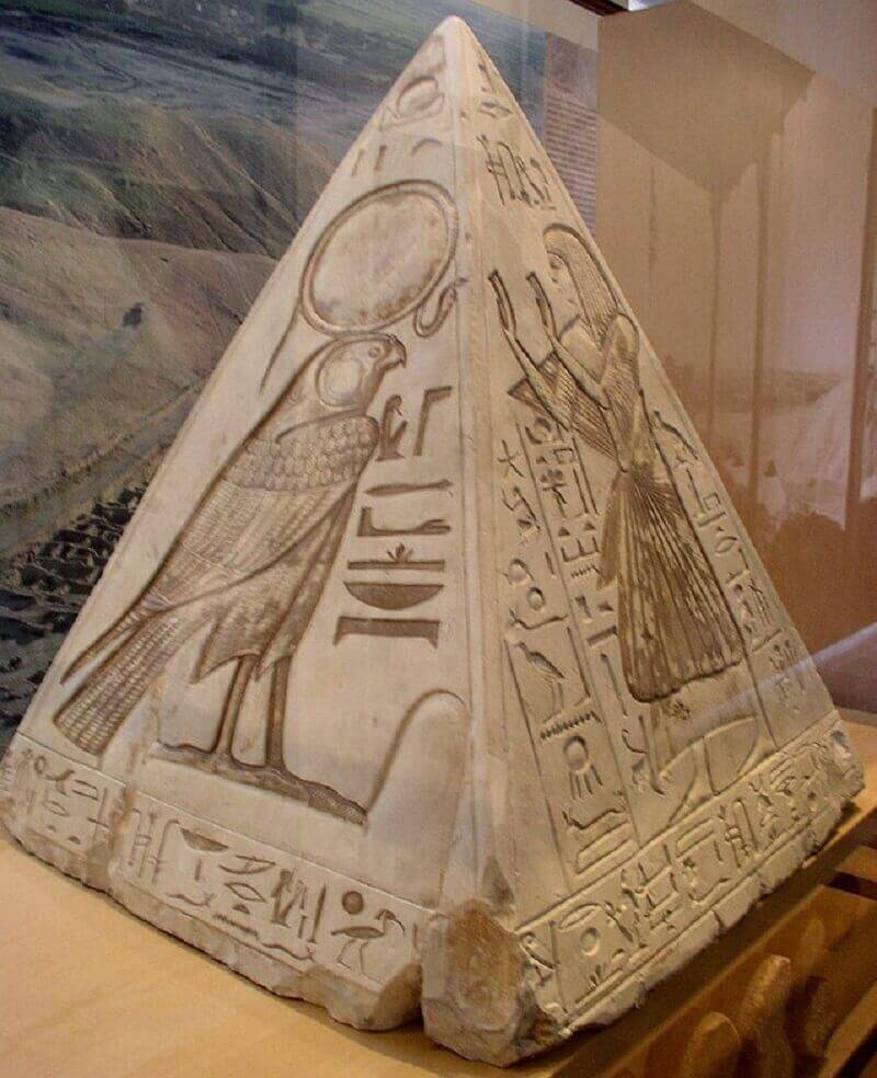 A granite pyramidion.