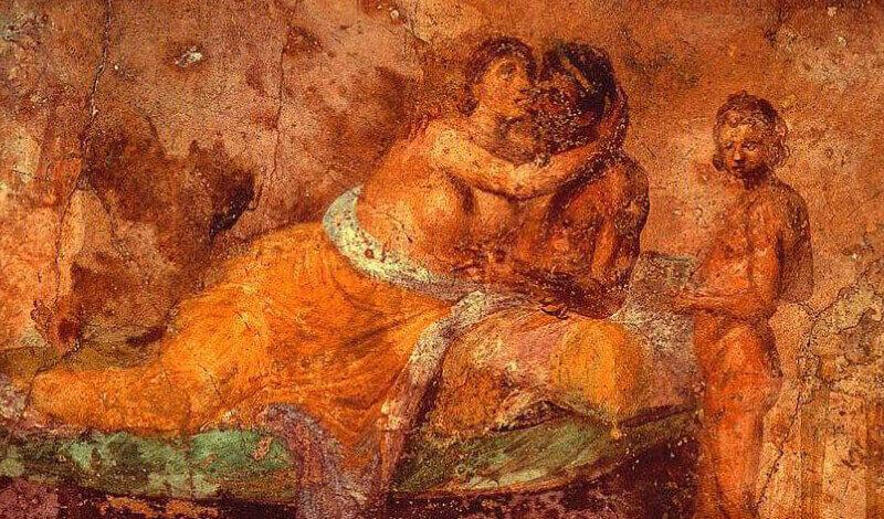 First wedding night. Casa Della Farnesina, Rome, I-St century BC