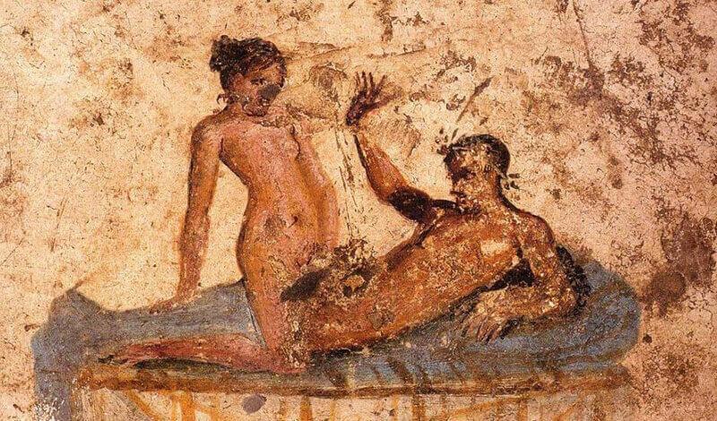 Couple in bed. Pompeii, fresco