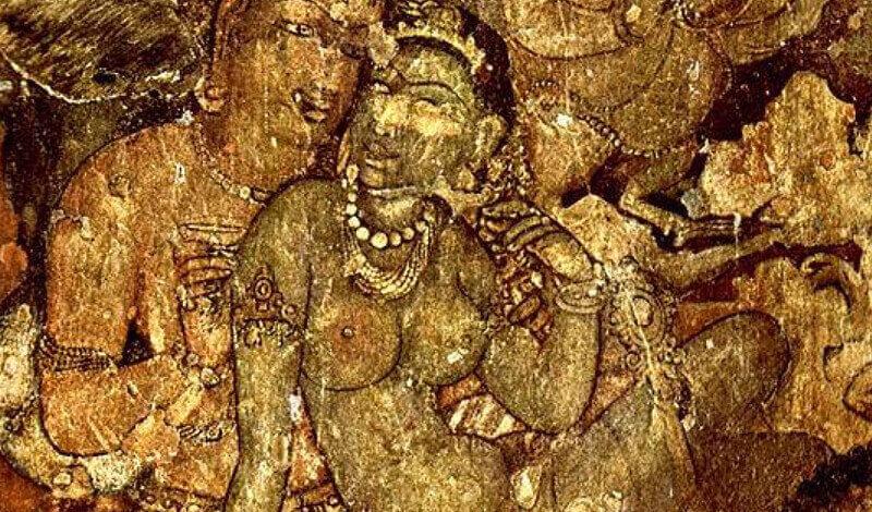 Painting from Ajanta caves, India