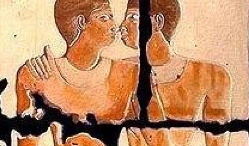 Kissing. Khnumhotep and Niankhkhnum