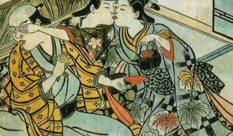 Wife and concubine. Nishikawa-Sukenobu, Japan 1716-1735