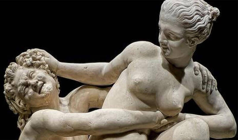 Nymph and Satyr. The British Museum, 2nd century ad