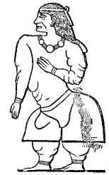 Queen Ati, wife of King Perahu of Punt, depicted on Pharaoh Hatshepsut's temple at Deir el-Bahri. Wikipedia