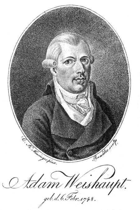 Illuminati founder Adam Weishaupt. Wikimedia Commons