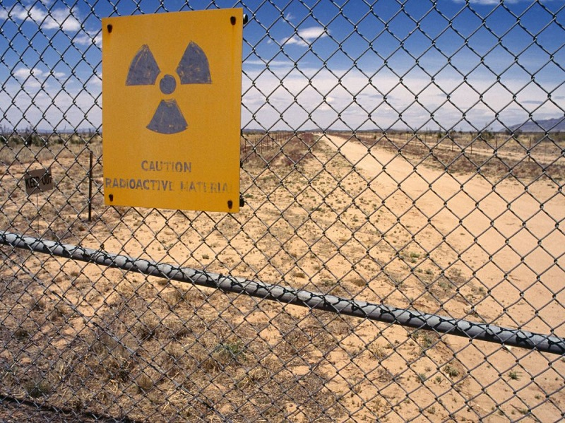 The site where the first atomic bomb exploded in July 1945 in the New Mexico Desert (USA)