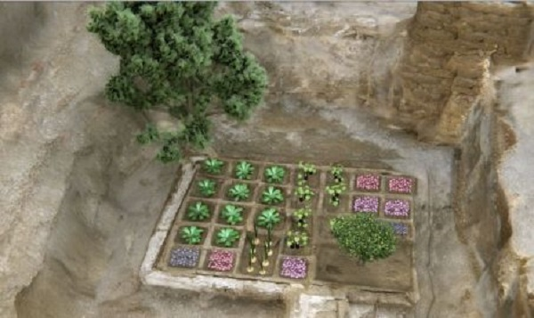 Virtual reconstruction of the funerary garden of Abu el Naga Draa, near Luxor. © Csic