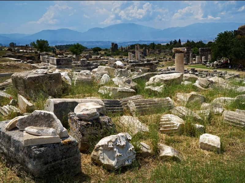 Ruins of ancient Hierapolis, in present-day Turkey. Crédits: Alexei Danichev/ Ria Novosti