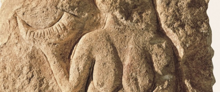 The horn of the famous Venus de Laussel (Dordogne), carved in stone 25,000 years ago, would be a drinking horn. This would make this bas-relief the oldest known libation scene. AISA / LEEMAGE FOR SCIENCE AND FUTURE