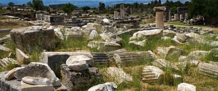 Ruins of ancient Hierapolis, in present-day Turkey. Crédits: Alexei Danichev/ Ria Novosti